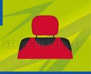 Poťahy opierok hlavy (červené)