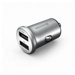 USB adaptér 2x (kovový, stříbrný)