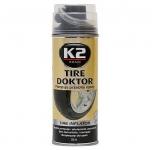 K2 TIRE DOKTOR utesnenie defektu 400ml