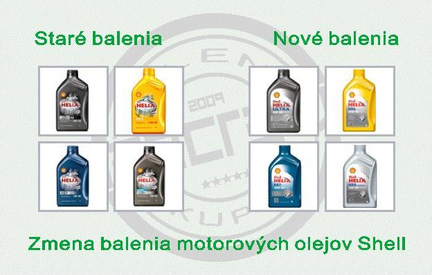 Nové balenia motorových olejov SHELL